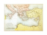 Countries Travelled by the Apostles and Showing the Journeys of St. Paul Between Asia and Europe Giclee Print