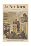 Title Page Depicting the Scandalous Meeting of the House of Deputies: Jean Jaures Attacked by… Giclee Print by Henri Meyer