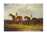 Elis' with J. Day Up, and 'Bay Middleton' with J. Robinson Up Giclee Print by David of York Dalby