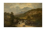 The Lledr Valley, North Wales Giclee Print by David Bates