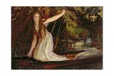 The Lady of Shalott Giclee Print by Arthur Hughes