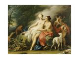 Jupiter and Callisto Giclée-tryk af Jacopo Amigoni
