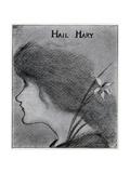 Hail Mary Giclee Print by Aubrey Beardsley