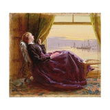 At Evening Time- Study, 1864 Giclee Print by George Elgar Hicks