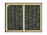 Leaves 13 and 14, from Wang Xizhi Book One, 'Calligraphy of Ancient Masters of Various Periods',… Giclee Print by Ming Dynasty Chinese School