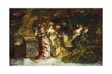 Fete Galante, C.1870 Giclee Print by Adolphe Joseph Thomas Monticelli