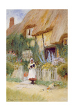 By the Cottage Gate Reproduction procédé giclée par Arthur Claude Strachan