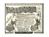 Advertisement for 'The Electropathic Belt', 1890s Giclee Print