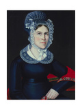 Hannah Bull Thompson, 1824 Giclee Print by Ammi Phillips
