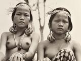 Orang Ulu Girls, Sarawak, Malaysia, C.1950 Photographic Print