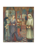 Dante and Beatrice, 1880 Giclee Print by Marie Spartali Stillman