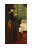 Study of a Girl Reading Giclee Print by Valentine Cameron Prinsep