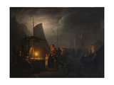 A Market Square at Night, Brussels, 1870 Giclee Print by Petrus van Schendel