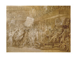 The People of Paris Storm the Tuileries on 10 August, 1792 Giclee Print by Francois Pascal Simon, Baron Gerard
