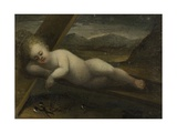 The Infant Christ Lying on a Cross Giclee Print