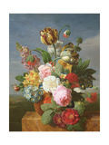 Bouquet of Flowers in a Vase Giclee Print by Jan Frans van Dael