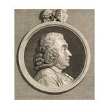 Antoine Deparcieux, from an 18th Century Engraving Giclee Print