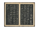 Leaves 9 and 10, from Wang Xizhi Book One, 'Calligraphy of Ancient Masters of Various Periods',… Giclee Print by Ming Dynasty Chinese School