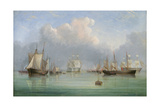 Ships Off Ryde Giclee Print by Arthur Wellington Fowles