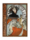 Au Quartier Latin, Printed by Paul Dupont, 1898 Giclee Print by Alphonse Mucha