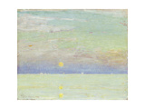 Moonrise at Sunset, Cape Ann, 1892 Giclee Print by Childe Hassam