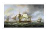 The Honourable E.I. Company's Ship 'Belvedere', Captain Charles Christie Commander, 1800 Giclee Print by Thomas Luny