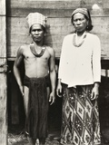 Kelabit Tribesmen, Sarawak, Malaysia, C.1940 Photographic Print