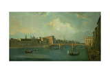 View of the Arno with Ponte Santa Trinita Giclee Print by Thomas Patch