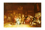 Henry Viii and Anne Boleyn Observed by Queen Katherine, 1870 Giclee Print by Marcus Stone