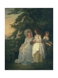 Mary Margaret Wood and Two of Her Daughters, 1787 Giclee Print by Francis Wheatley