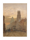Fleet Street by Temple Bar Giclee Print by Herbert Menzies Marshall