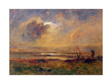 Sunset on the Plain, C.1868 Giclee Print by Auguste Francois Ravier