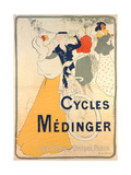 Poster Advertising Medinger Bicycles, 1897 Giclee Print by Georges Bottini