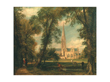 Salisbury Cathedral from the Bishop's Grounds, 1823-26 Giclee Print by John Constable