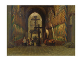 Interior of the Church of Saint Gereon at Cologne Giclee Print by Adrien Dauzats