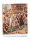 Queen Elizabeth I Opening the Royal Exchange in 1570, Illustration from Hutchinsons 'story of the… Giclee Print by Ernest Crofts