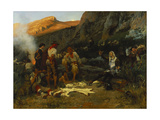 Don Quixote and the Goat Herders, 1870 Giclee Print by Anton Alexander von Werner
