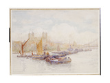 The Tower of London from the Thames with Shipping in the Foreground Giclee Print by Herbert Menzies Marshall
