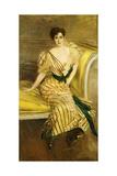 Portrait of Madame Josephina Alvear De Errazuriz, 1892 Giclee Print by Giovanni Boldini