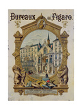 Poster Advertising the Parisian Newspaper 'Le Figaro', C.1880 Giclee Print by Gustave Grimoin