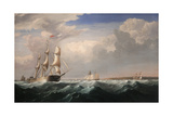 Sailing Ships Off the New England Coast, C.1855 Giclee Print by Fitz Henry Lane