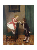Miss Lily's First Flirtation, 1867 Giclee Print by James Hayllar