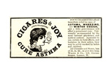 Advertisement for 'Cigares De Joy (Joy's Cigarettes)', 1890s Giclee Print