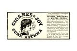 Advertisement for 'Cigares De Joy (Joy's Cigarettes)', 1890s Giclee Print