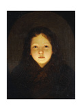 A Girl, Head and Shoulders Giclee Print by Petrus van Schendel