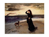 Farewell at the Seafront, 1891 Giclee Print by Alfred Emile Stevens