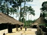 Dayak Bidayuh Longhouse, Sarawak, Malaysia Photographic Print
