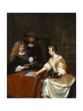 The Music Party, C.1668-70 Giclee Print by Gerard ter Borch or Terborch