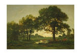 The Pond Oaks Giclee Print by Theodore Rousseau