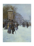 The Promenade in Paris Giclee Print by Jean Francois Raffaelli